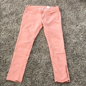 H & M coral color jeans